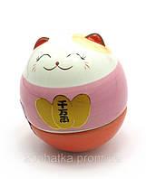 Кошка Манэки-нэко неваляшка 6 см