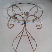 Журнальный столик круглый высокий золото