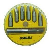 Набор бит Sigma + адаптер 7шт S2 (пласт кейс) (4013101)