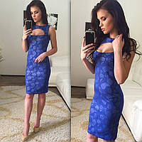 Женское стильное платье с эффектом утяжки (2 цвета)