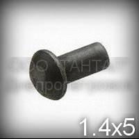 Заклепка Ø1,4х5 стальная ГОСТ 10299-80, DIN 660 , ISO 1051 с полукруглой головкой