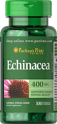 Эхинацея, иммунитет, Puritan's Pride Echinacea 400 мг 100 капсул, фото 2