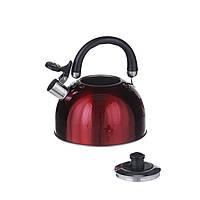 Чайник на плиту 2,5л Красный (1329)