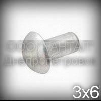 Заклёпка Ø3х6 алюминиевая ГОСТ 10299-80 с полукруглой головкой
