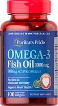 Рыбий Жир, Омега-3, Puritan's Pride Omega-3 Fish Oil 1000 mg 100 sofgels