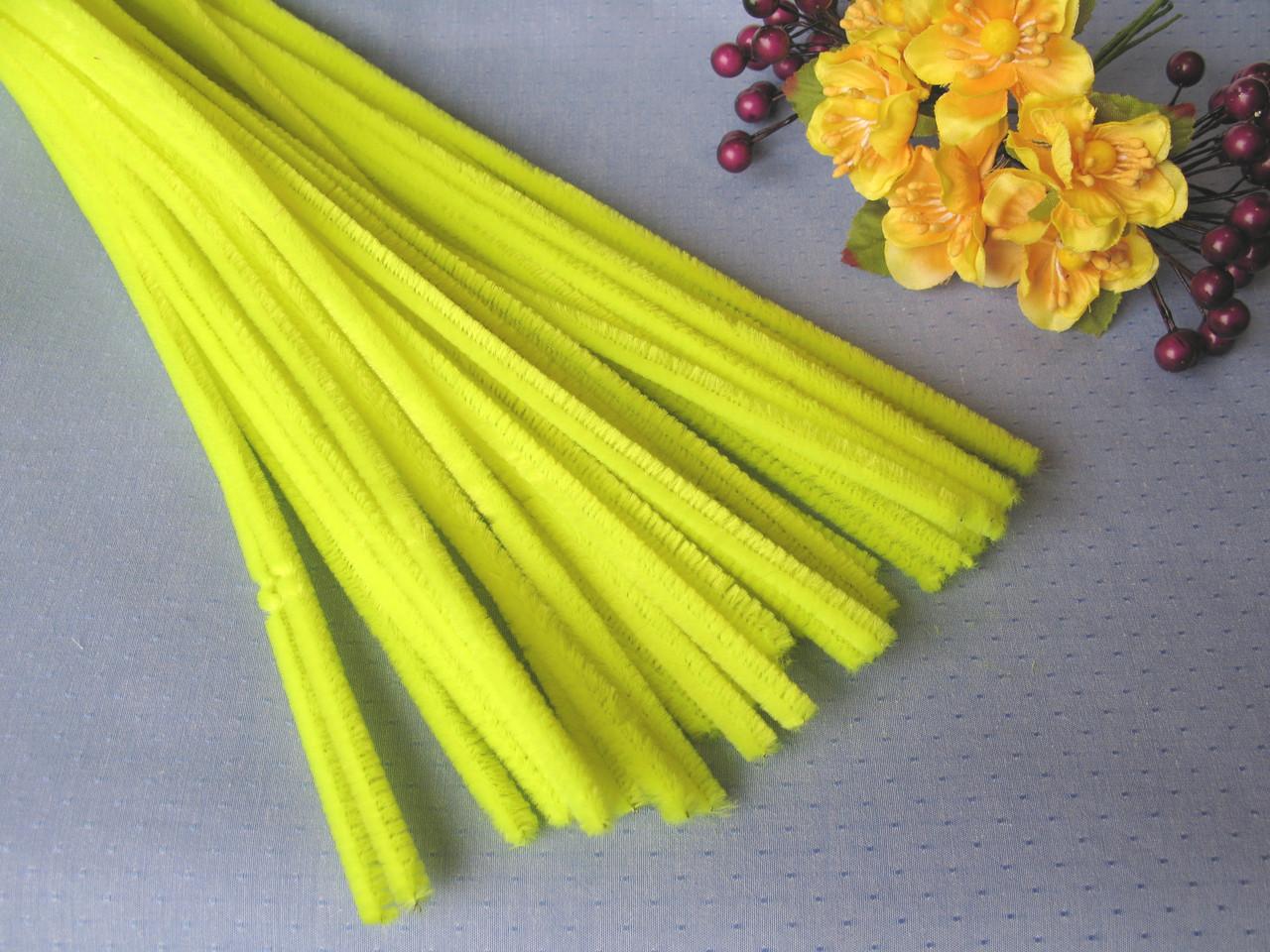 Синельная Проволока Лимонная 30 см