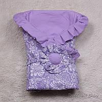 """Демисезонный конверт одеяло """"Богемия Премиум"""" фиолетовый, фото 1"""
