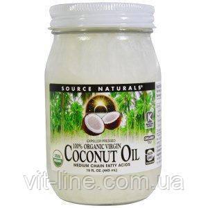 Source Naturals, 100% органическое кокосовое масло первого отжима (443 мл), фото 2
