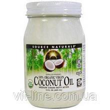 Source Naturals, 100% органічна кокосова олія першого віджиму (443 мл)