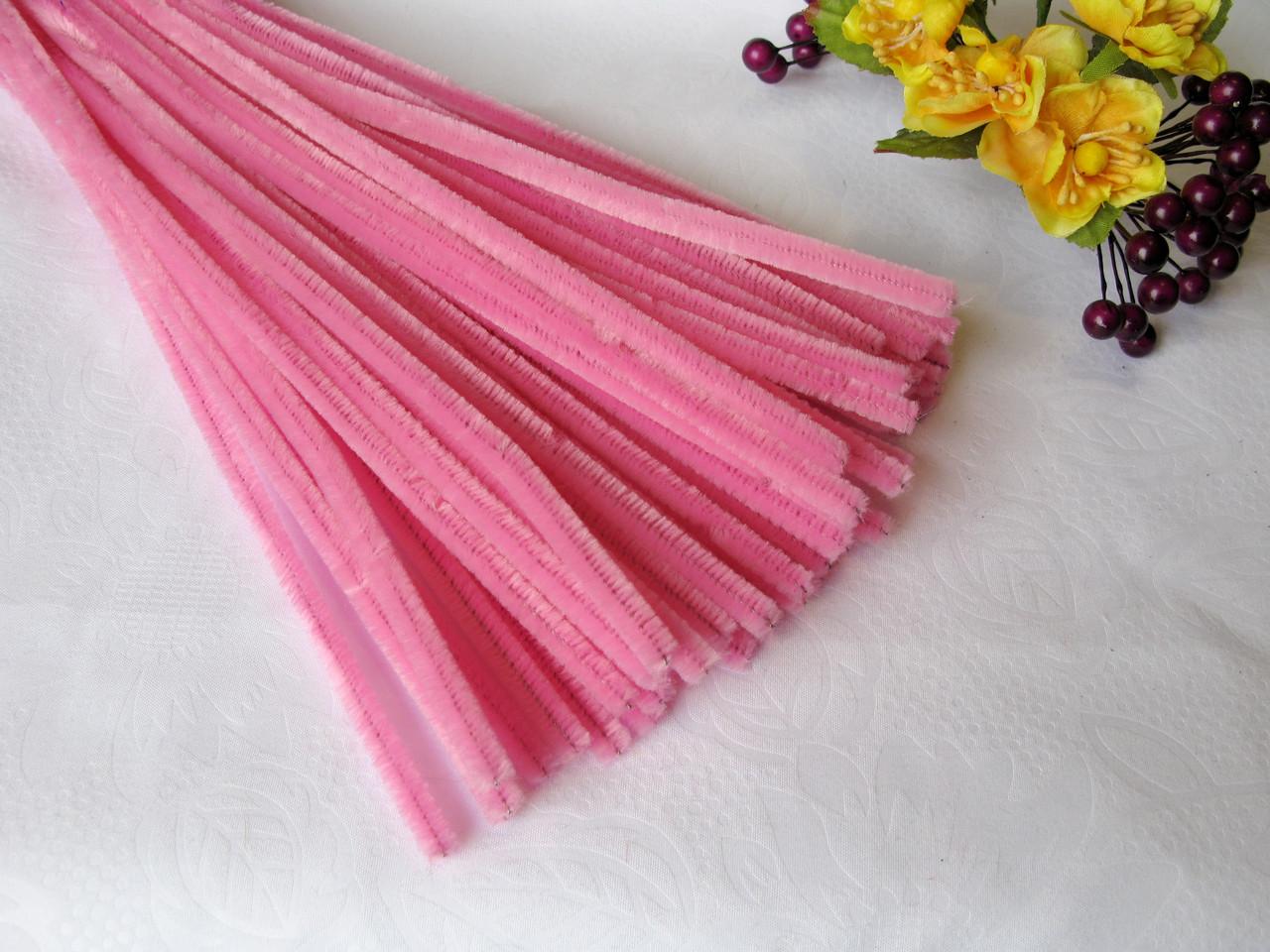 Синельная Проволока Розовая 30 см