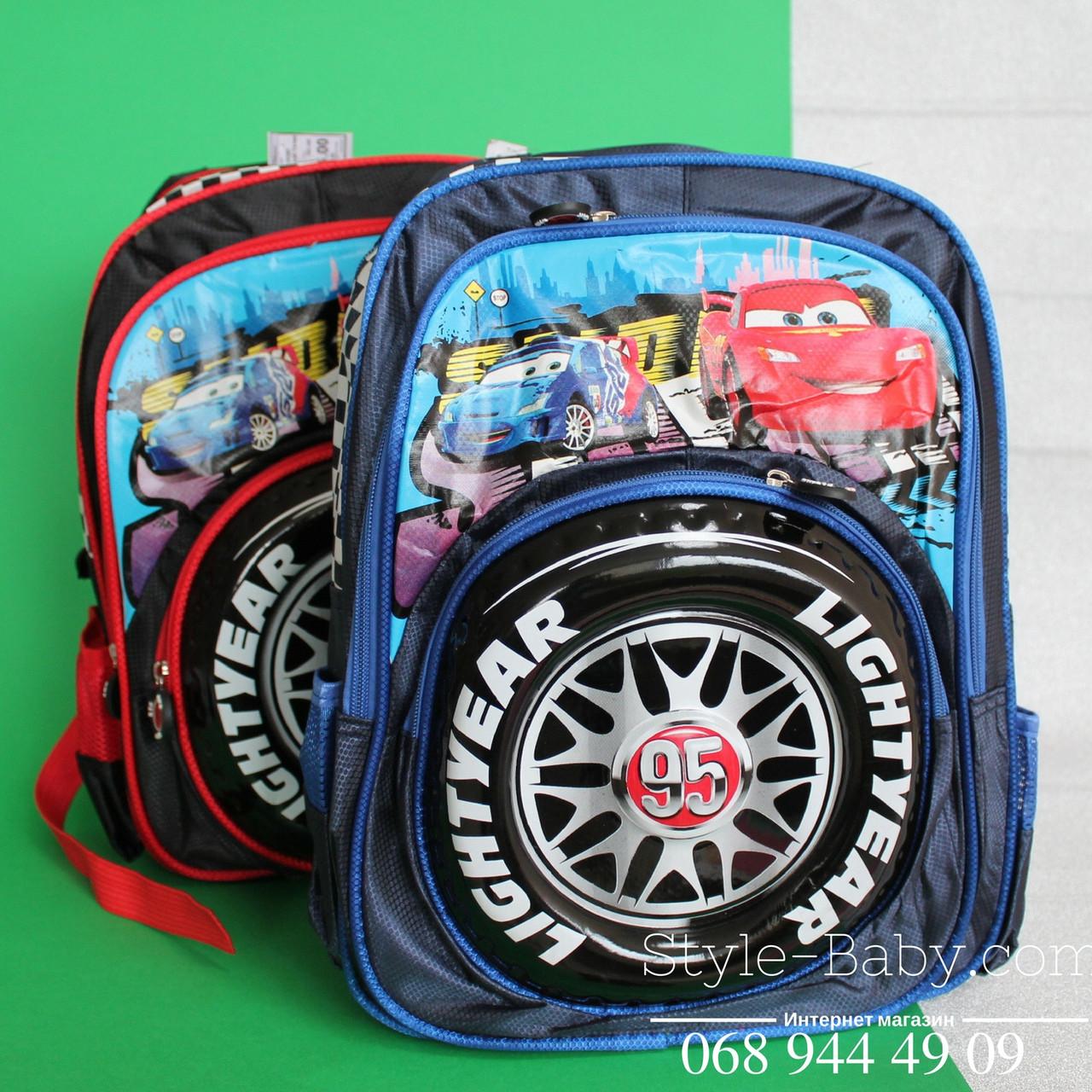 22fd4f54cb1f Школьный рюкзак с ортопедической спинкой Тачки 3D 3 отдела 20 л 26x19x40 см