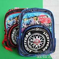 Школьный рюкзак Тачки 3D мальчику 3 отдела 20 л спинка ортопедическая 26x19x40см