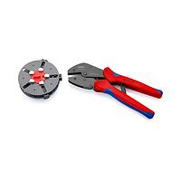 Обжимные клещи с магазином для смены плашек и 3 профилями обжима 250 мм - Knipex 97 33 01