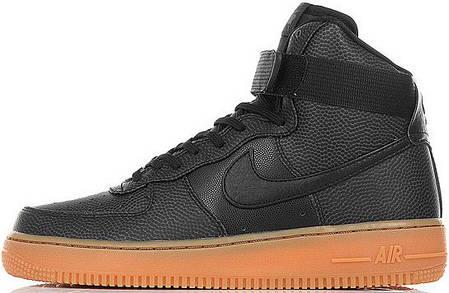 Женские кроссовки Nike Wmns Air Force 1 Hi SE Black, Найк Аир Форс, фото 2