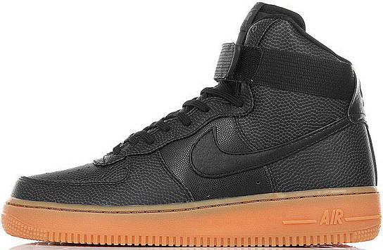 Женские кроссовки Nike Wmns Air Force 1 Hi SE Black, Найк Аир Форс