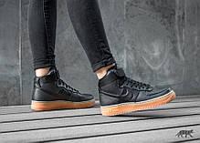 Женские кроссовки Nike Wmns Air Force 1 Hi SE Black, Найк Аир Форс, фото 3