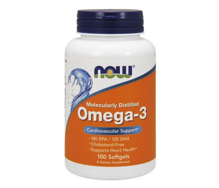 Омега-3 NOW Foods Omega-3 100 капсул