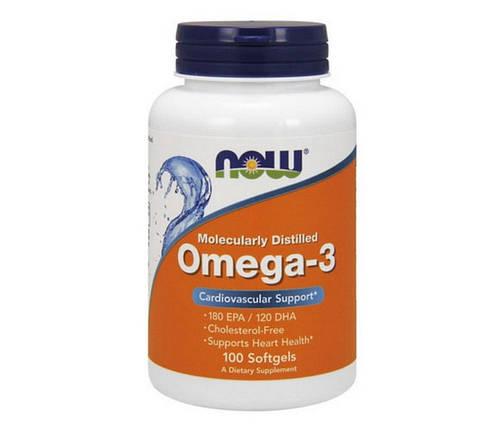 Омега-3 NOW Foods Omega-3 100 капсул, фото 2