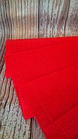 Гофрированная бумага Красная