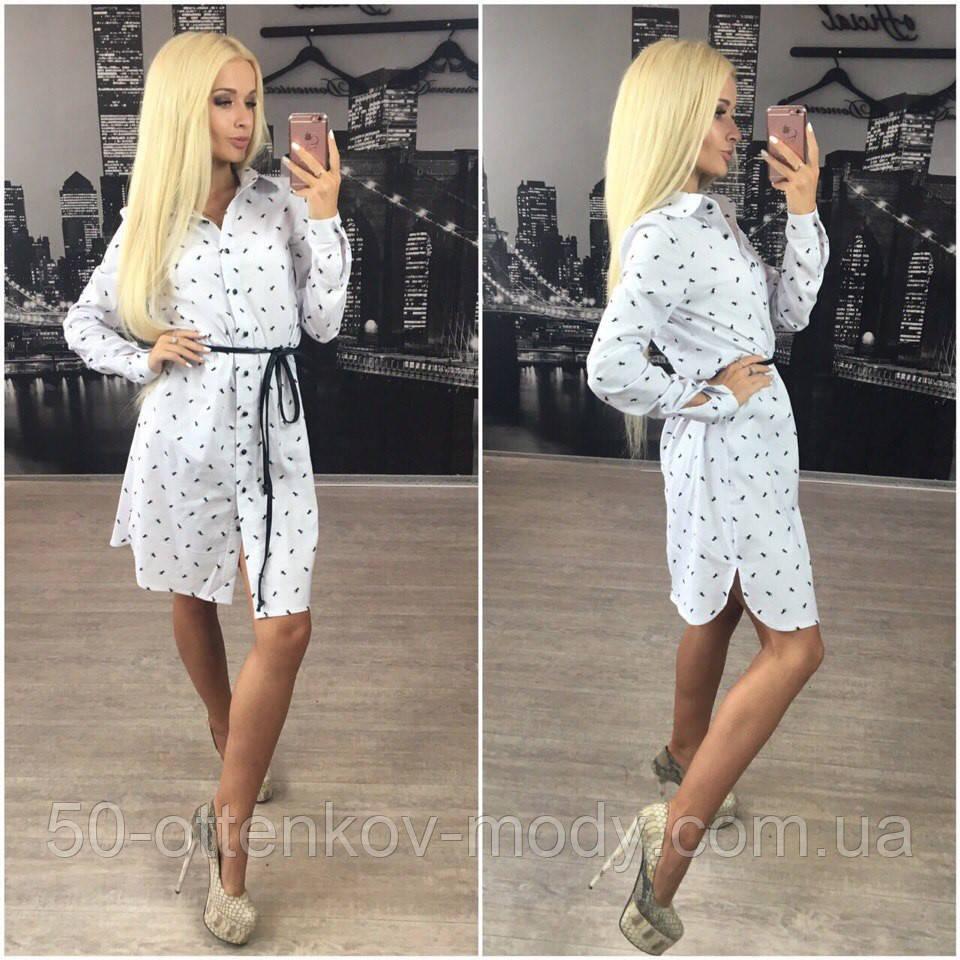 9d8bf63b37e Женское стильное платье-рубашка с поясом + (Большие размеры ...