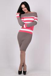 Платье машинной вязки - Памела
