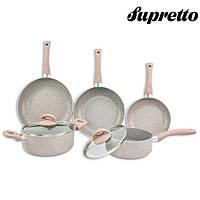"""Набор посуды с антипригарным покрытием """"MARBLE"""" 7 предметов Supretto. Высокое качество. Купить. Код: КДН2209"""