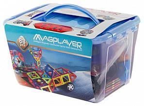 Магнитный конструктор MAGPLAYER 88 деталей