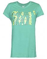 Женская зеленая футболка трикотажная 361°, размер  XS (40)