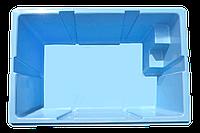 Готовый стекловолоконный приямок с плоской крышкой, бокс 2,0 х 1,3 х 1,0 м