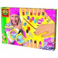 Набор для творчества - МОДНЫЙ МАНИКЮР (краски, кисточка, стикеры, украшения) от Ses - под заказ