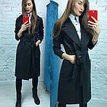 Очень красивое женское демисезонное удлиненное пальто с пояом (3 цвета), фото 3