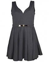 Платье серое трикотажное Mela Loves London  12(44-46)