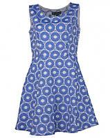 Платье голубое с орнаментом Mela 12(платье лето44-46)