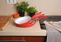 Отличный набор керамических сковородок. Хорошее качество. Практичный и удобный набор. Купить. Код: КДН2210