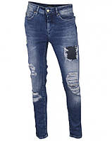 Джинсы винтажные голубые стрейчевые 7/8 MAEL, размер 28(46)