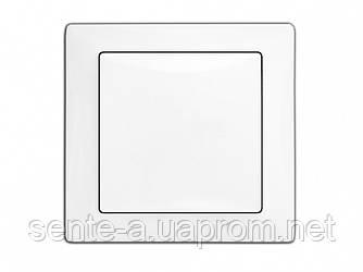 Выключатель одноклавишный 9021 WEGA белый Delux