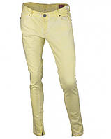 Джинсы желтые стрейчевые BERSHKA, размер 40