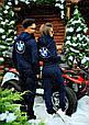 Спортивный костюм парный в стиле  BMW синий, фото 4
