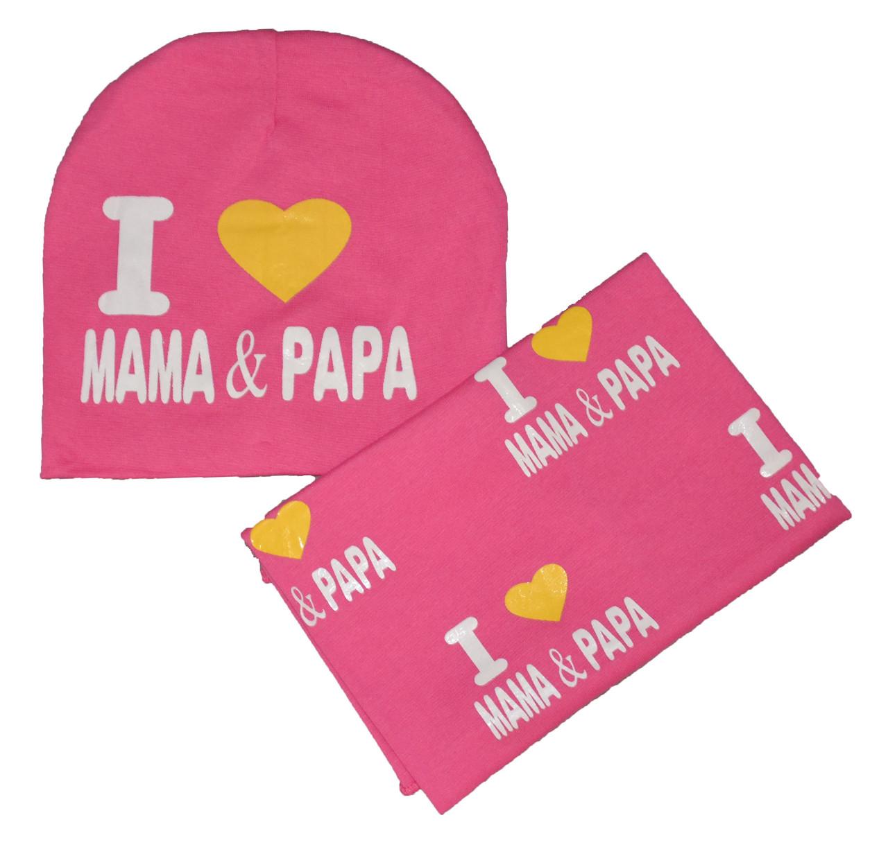 Набор шапка и шарф хомут для девочки
