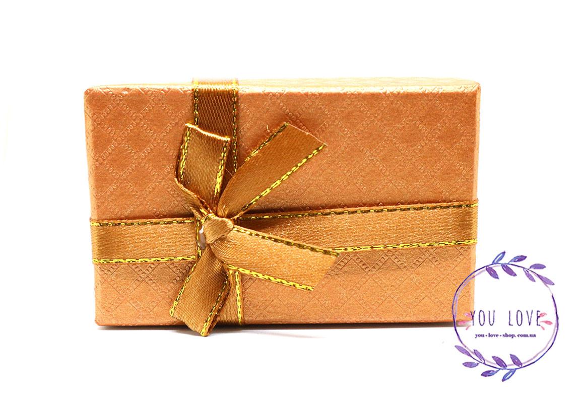 Коробочка подарочная для бижутерии Классическая Серая Коричневая
