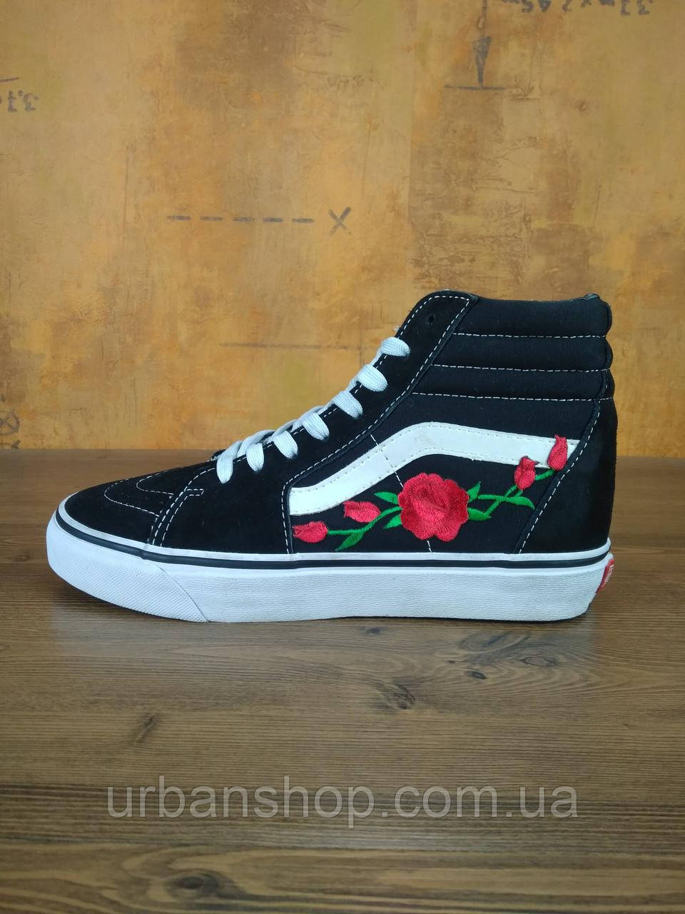 Кеди Vans SK8-HI Roses Black/White