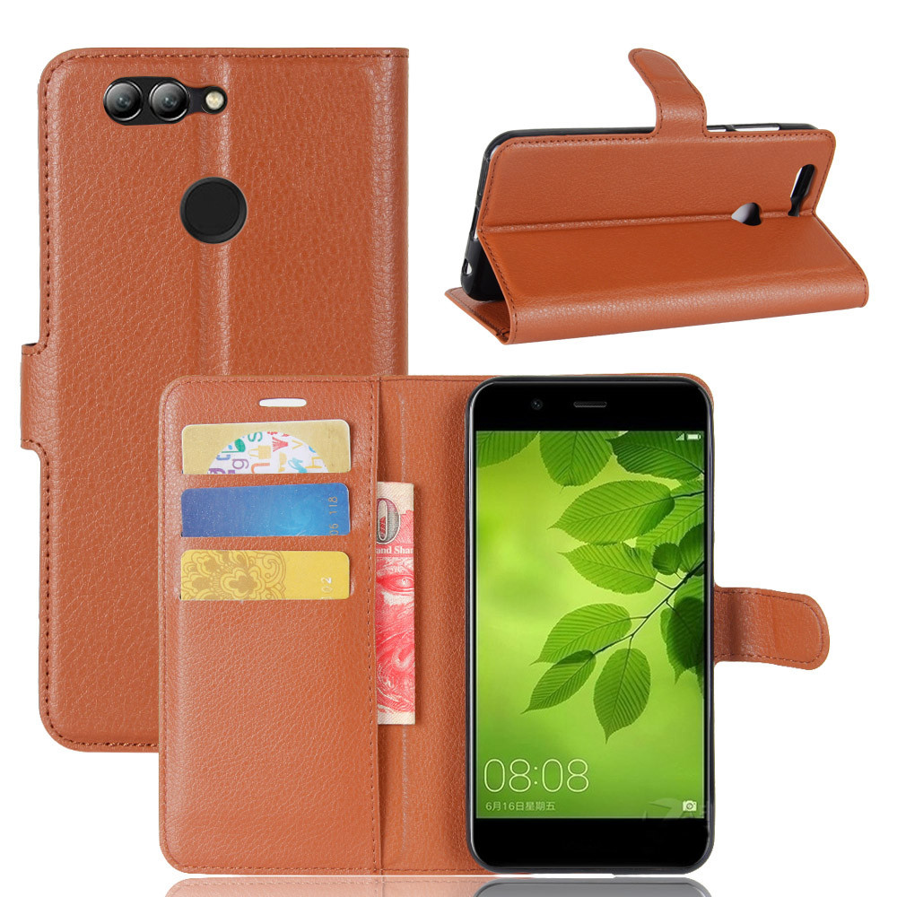 Чехол Huawei Nova 2 книжка PU-Кожа коричневый