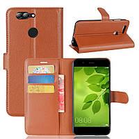 Чехол Huawei Nova 2 книжка PU-Кожа коричневый, фото 1