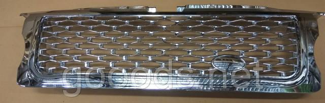 Хром решетка с хром сеткой и хром окантовкой