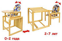 Детский деревянный стульчик-стул для кормления