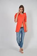 Женский модный пиджак-кардиган с капюшоном