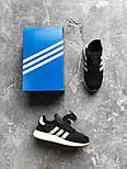 Кроссовки Adidas Iniki Runner Boost Black White. Живое фото. Топ качество! (Реплика ААА+), фото 2