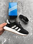 Кроссовки Adidas Iniki Runner Boost Black White. Живое фото. Топ качество! (Реплика ААА+), фото 3