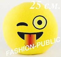 Мягкая игрушка смайлик 25 см