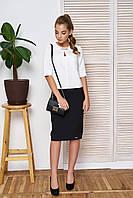 Офисный женский костюм Дорис черный ТМ Arizzo 44-50  размеры